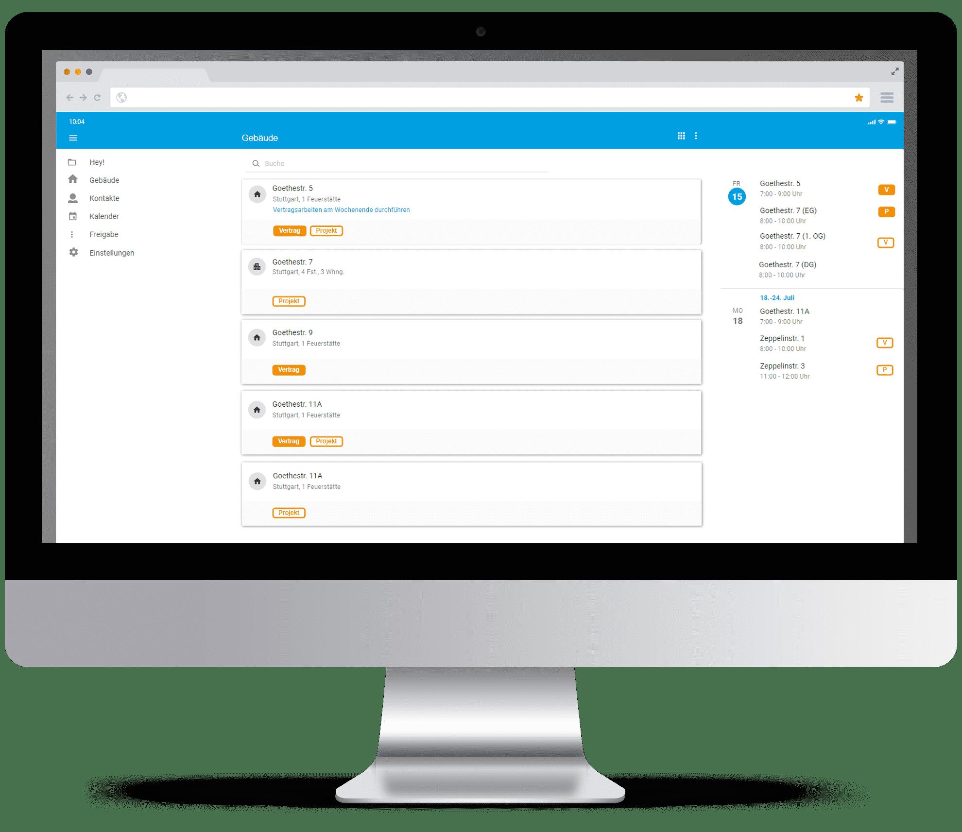 Screenshot digibase - Rechnungsprogramm & CRM