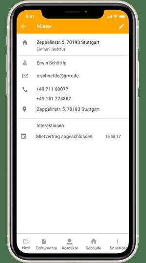 Screenshot digibase home - App für Eigentümer und Meiter