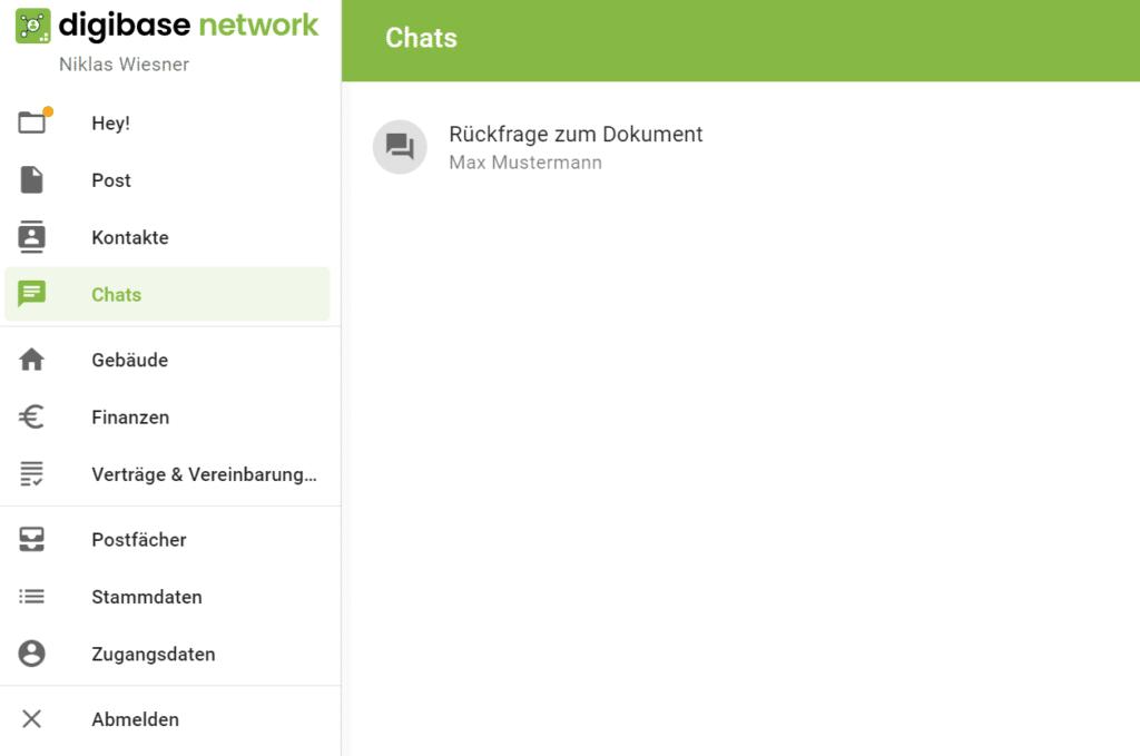 digibase Interaktion mit Chat