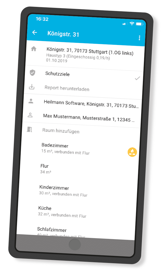 Screenshot digibase Luftverbund - App Verbrennungsluft
