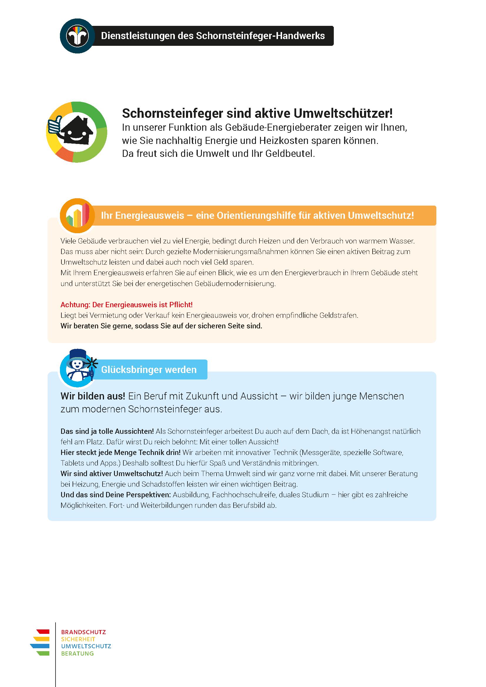 digibase Schornsteinfeger Marketing: Beilage Rauchwarnmelder