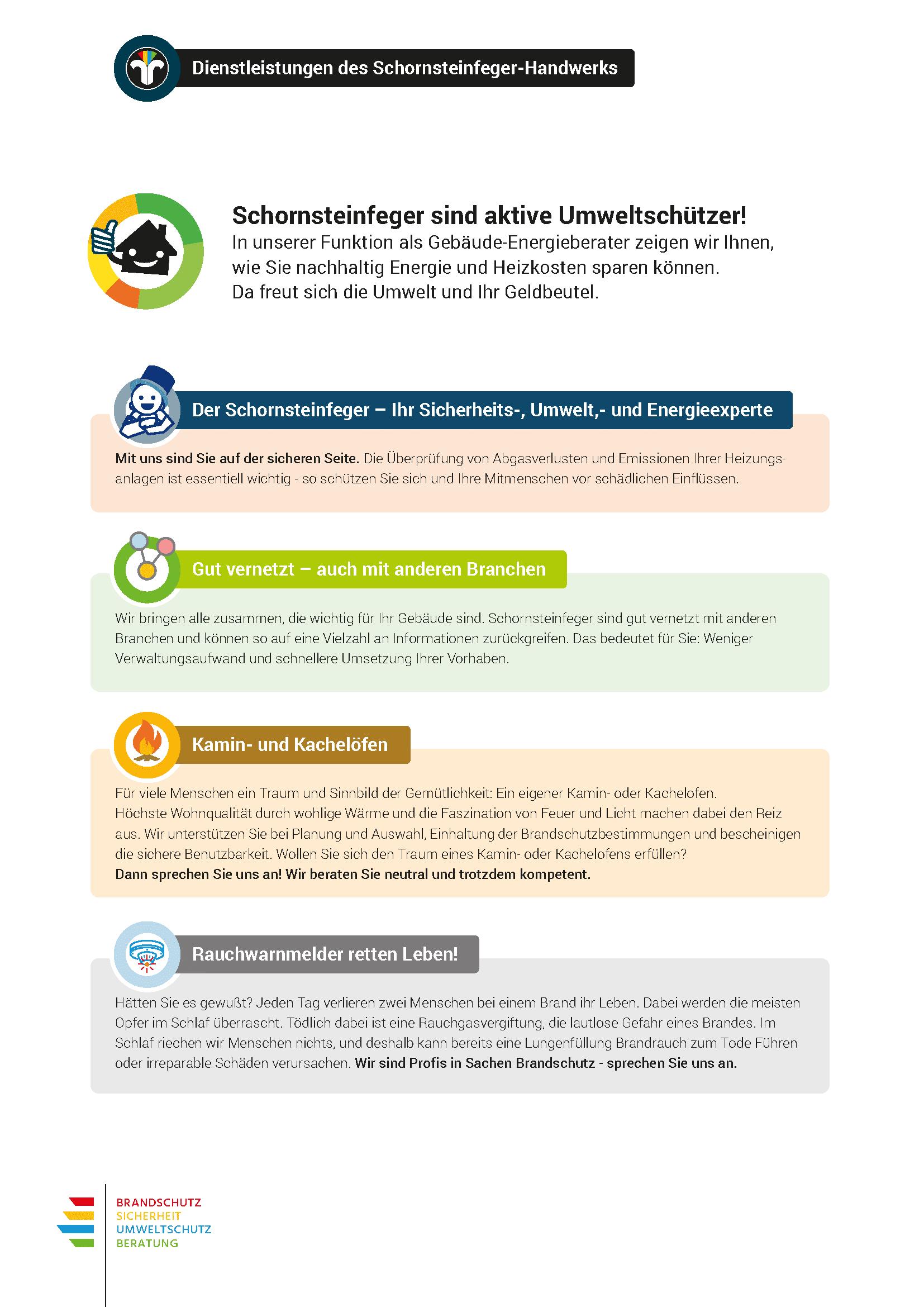 digibase network - Schornsteinfeger Marketing: Beilage mit 5 Themen