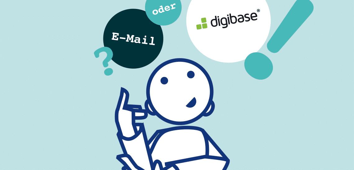Warum ist digibase sicherer als E-Mail?