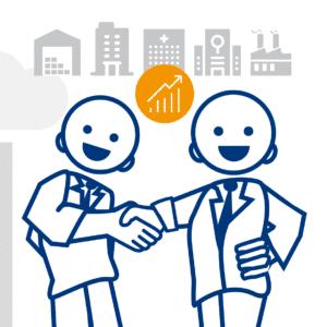 Illustration digibase für Gewerbliche Eigentümer (Postversand und Inputmanagement)