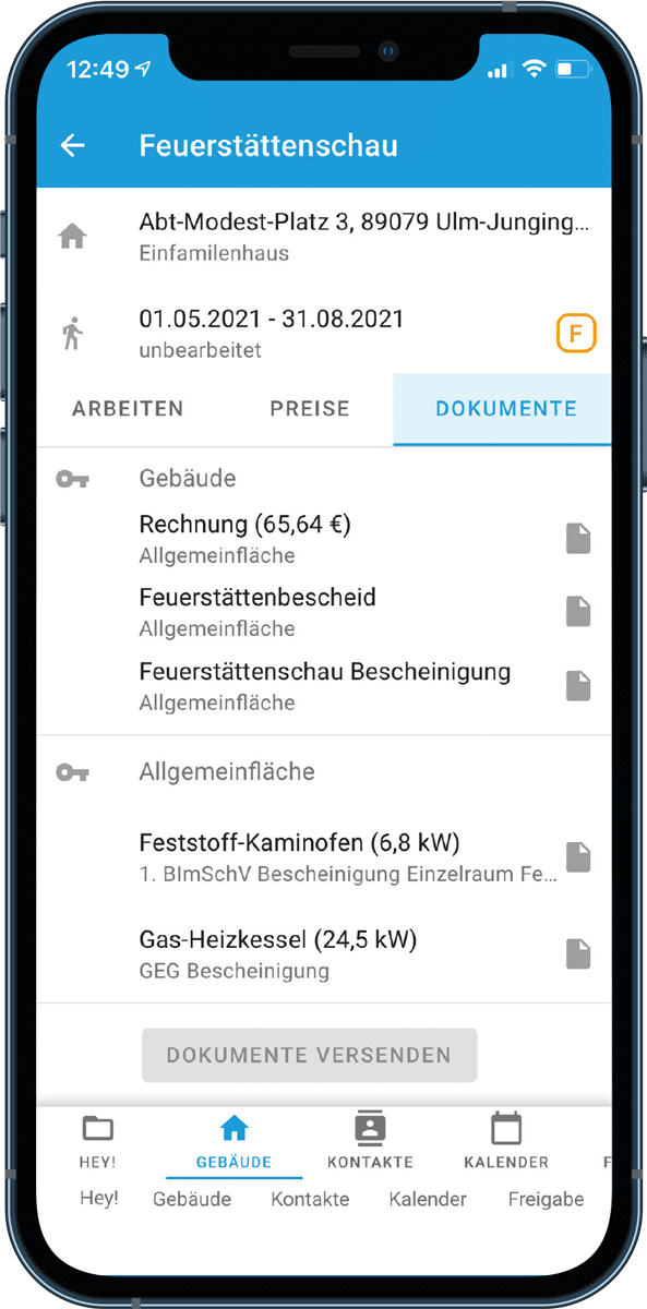 Screenshot von connect Verwaltungssoftware